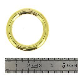 Anneau rond moulé - DORÉ LUXE - 26 mm - Fil carré 5 mm