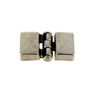 Fermoir bijou - Fermeture emboîtement - Argent vieilli - Lanière 13 mm