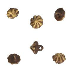 Lot de 6 boutons à coudre - LAITON VIEILLI