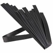 Lot de 250g de lanières de cuir BOX - NOIR- Longueur de 20 à 59 cm