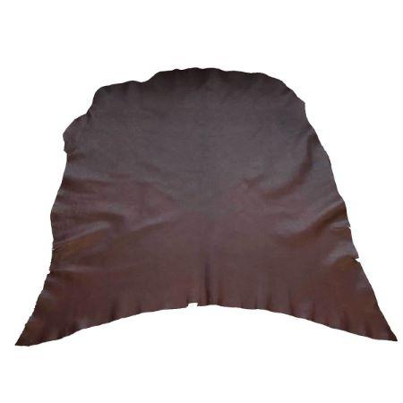Collet de cuir souple tannage végétal - CHOCOLAT MAT E01 - Ép 1,1 mm