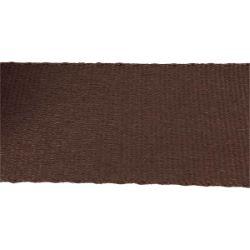 Sangle coton CHOCOLAT - Largeur 65 mm - 3 mètres