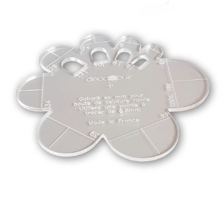 Gabarit Bouts de ceinture RONDS en mm - Deco Cuir