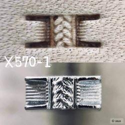 Matoir sur manche OKA - Basketweave fagot tressé 9,2mm - X570-1