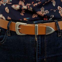 Boucle de ceinture mexicaine PAZ - ARGENT VIEILLI - 30mm