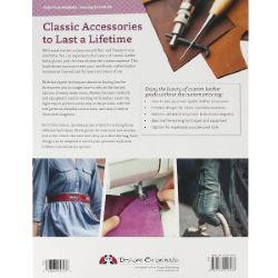 """Livre """"SEWING LEATHER ACCESSORIES"""" - Accessoires en cuir à coudre"""