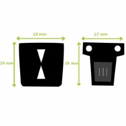 TUCK - Fermeture de cartable - 27x28mm