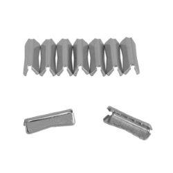 Lot de 10 embouts de sangle à griffe DESIGN - 24mm - NICKELÉ