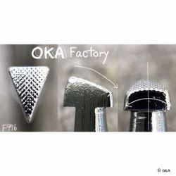 Matoir sur manche OKA - Figure Carving triangle quadrillé 5mm - F976