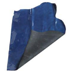 Peau de croûte de cuir verni grain saffiano - BLEU B21