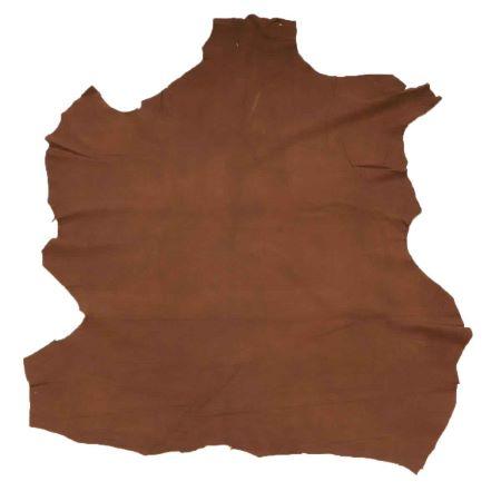 Peau de cuir de cerf velours - NOISETTE E33 - 0,65 m²
