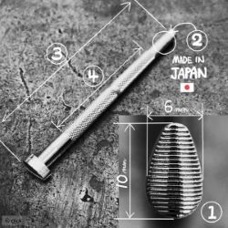 Matoir sur manche OKA - Pear Shader strié horizontal 6mm - P211