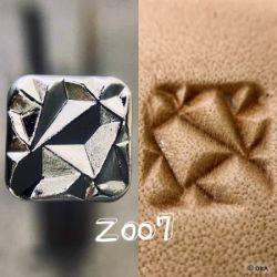 Matoir sur manche OKA - Cristaux carrés - Z007