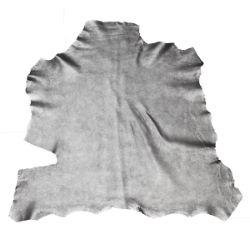 Peau de cuir de chèvre effet métallisé - ARGENT D16