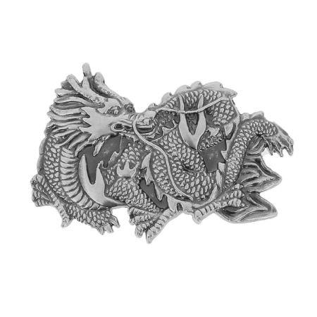 Concho à visser DRAGON CHINOIS - 44x28mm - Nickelé satiné