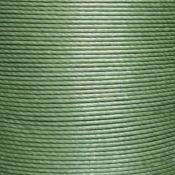 Cartonnette de 8m de fil de lin ciré MeiSi super fine M50 - 0,55 mm - VERT AVOCAT - MS086
