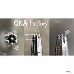 Matoir sur manche OKA - Background 7 trous 2mm - A100