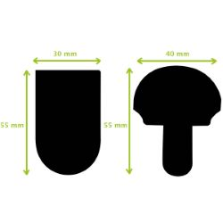 TUCK - Fermeture de cartable - 40x55mm - NICKELÉ