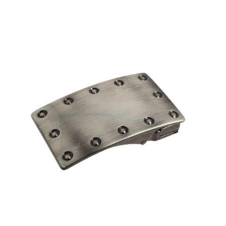 Boucle de ceinture à griffe LOKI -  NICKELÉ SATINÉ - 35 mm