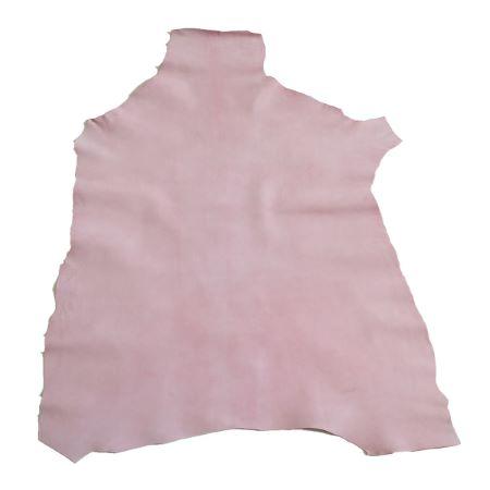 Peau de cuir de chèvre velours - ROSE PASTEL D44