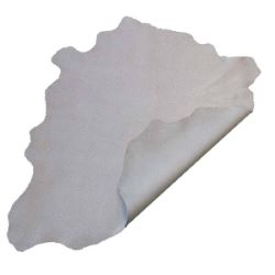 Peau de cuir de chèvre velours - GRIS D80 - effet craquelé Blanc