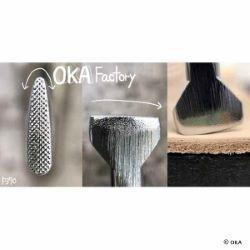 Matoir sur manche OKA - Thumbprint quadrillé 3,5mm - P370
