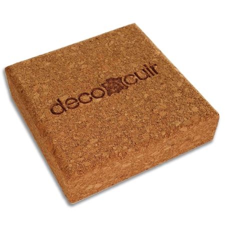 Bloc de liège Deco Cuir - 8x8 cm
