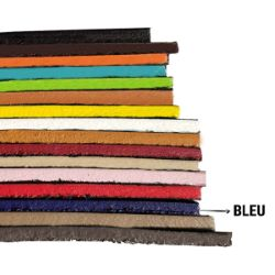 Finition de tranche BLEU MAT - Deco Cuir - 60 ml