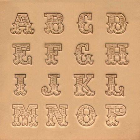 Jeu de 26 lettres de l'alphabet - ART DU CUIR - 1,91 cm - 3/4