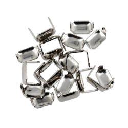 Lot de 20 agrafes pour cuir finition Nickelé