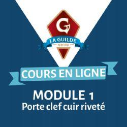 Kit outil module 1 : Porte clef cuir riveté - La Guilde Héritage