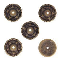 Lot de 5 conchos ETHNIQUE - 29mm - LAITON VIEILLI