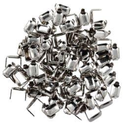 Lot de 100 agrafes pour cuir finition Nickelé