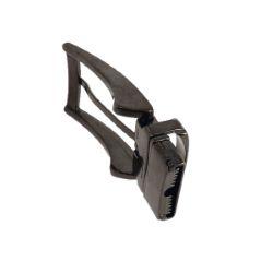 Boucle de ceinture à griffe HUGO - NOIR BRILLANT- 30 mm