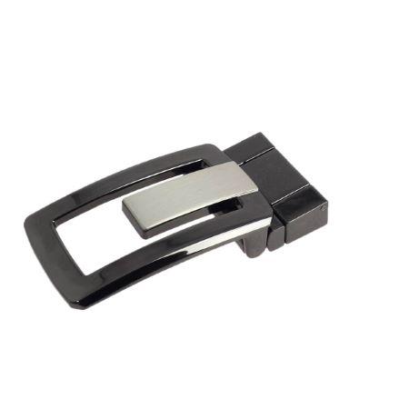 Boucle de ceinture à griffe LUIS - NOIR BRILLANT - 32 mm