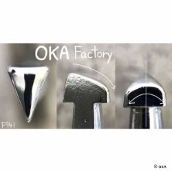 Matoir sur manche OKA - Figure Carving triangle lisse 5mm - F941