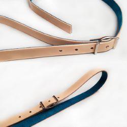 Bande de cuir de collet - NATUREL - Larg 20 mm - Long 120 cm - Ép 1,9 mm
