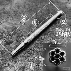 Matoir sur manche OKA - Background 7 ronds 3mm - A103