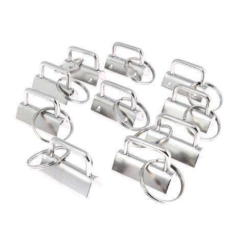 Lot de 10 têtes de porte clés à griffe 32 mm - NICKELE