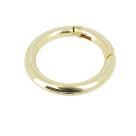 Mousqueton rond - DORÉ CLAIR - Diamètre 35 mm