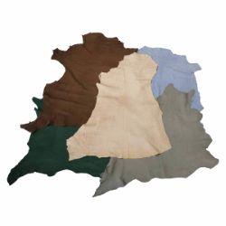 Lot SURPRISE de 5 peaux de cuir de chèvre velours - DIVERS