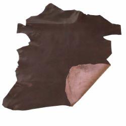Peau de cuir de chèvre nappa - MARRON E72