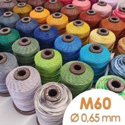 Bobine de 50m de fil de lin ciré MeiSi super fine M60 - 0,65 mm