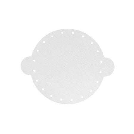 Cuir déja coupé pour faire une bourse en cuir BLANC - Diamètre 14,5 cm