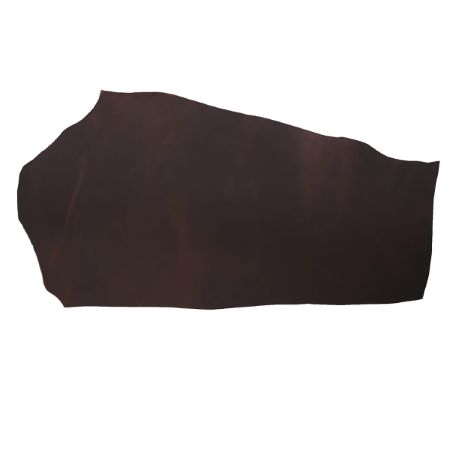 Demi croupon tannage végétal - MARRON - Épaisseur 3,7 mm - 2' choix
