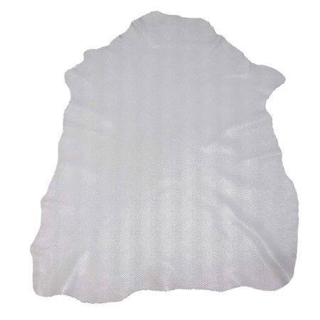 Peau de cuir de chèvre velours fantaisie imitation reptile - BLANC C55 - 2' choix