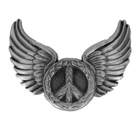 Concho à visser PEACE - 37x31mm - Nickelé satiné