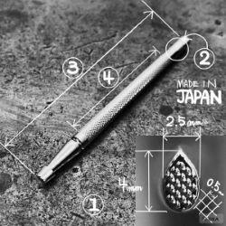 Matoir sur manche OKA - Background grain fin 2,5mm - A99