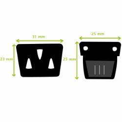 TUCK - Fermeture de cartable - 25x25mm