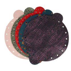 Lot de 5 découpes de croûte de cuir pour bourse - FANTAISIE - diamètre 20 cm